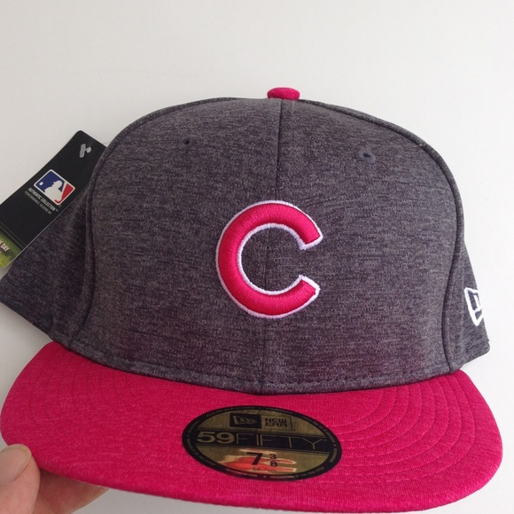 best authentic 74d5e 47888 Chicago Cubs Mother s Day Collection Gray Pink Hat